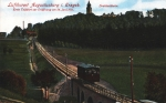 Ansichtskarte Drahtseilbahn Brücke