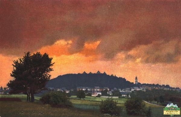 Sonnenuntergang über Augustusburg