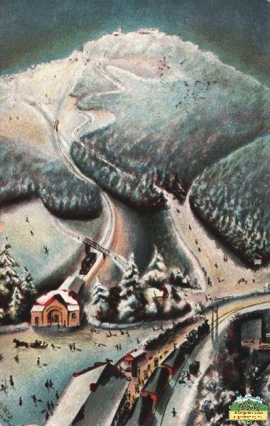 Ansichtskarte Wintersport 1900