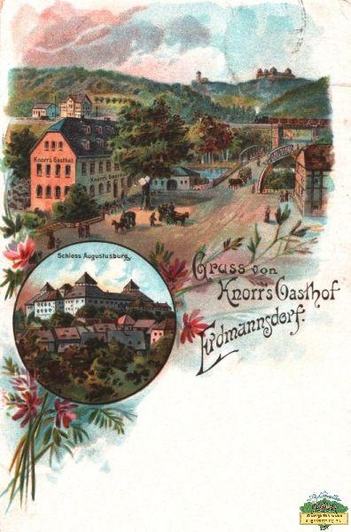 Ansichtskarte Erdmannsdorf Knorrs Gasthof